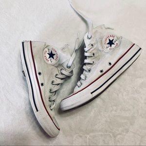 Women's White Converse High Top Shoes